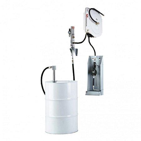 Unidade de Abastecimento Medidor Digital Carretel Blindado 12M Mang 1-2Pol Adp Parede 35LPM