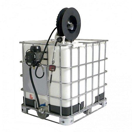 Unidade de Abastecimento Eletrica 220V  Med Dig Carretel 10M Mang 1-2Pol IBC 1000LT 25LPM
