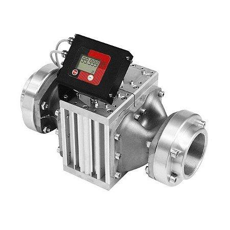 Medidor Digital para Óleo Lubrificante e Diesel Vazão de 500LPM 3 Polegadas NPT