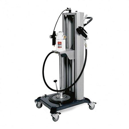 Elevador Móvel Pneumático para Compactação de  Adapt tambor de 20 Kg