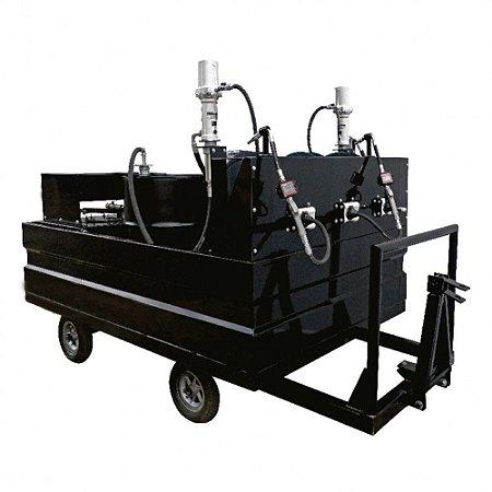 Mini-Comboio Pneumático para Lubrificação tipo Reboque com 3 Propulsoras Óleo e 1 Graxa