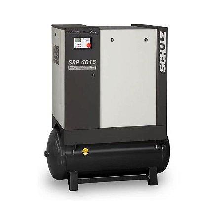 Compressor de Ar de Parafuso SRP 4015 15HP 15 Pés 220V com Reservatório 234 Litros - SCHULZ