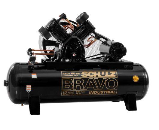 Compressor de Ar Bravo 60 Pés 350 Litros 220/380 V - SCHULZ