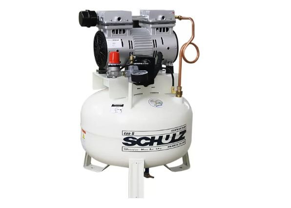 Compressor de Ar Odontológico Silencioso Mono 1HP 5PCM 30 Litros - SCHULZ-CSD