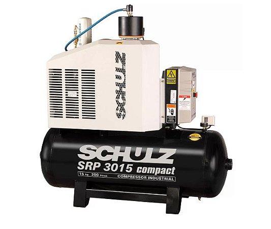 Compressor de Ar Rotativo de Parafuso SRP 3015 Compact III 15HP 7,5Bar 200L - SCHULZ