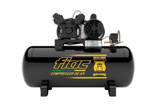 Compressor de Ar Bulldog 2HP 10 Pés 100 Litros Monofásico 110/220V