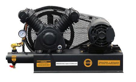 Compressor de Ar Sobre Base 10 Pés 120PSI 2HP Trifásico 220/380V - CHIAPERINI
