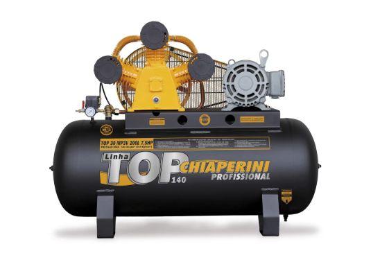 Compressor de Ar 30 PCM 7,5HP 200 Litros Trifásico - CHIAPERINI