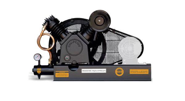 Compressor de Ar Alta Pressão Sobre Base 20 Pés 175PSI sem Motor - CHIAPERINI