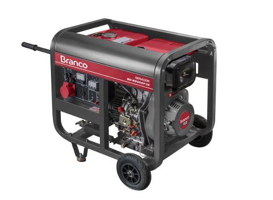 Gerador de Energia a Diesel 5,0KVA Trifásico 380V com Partida Elétrica - BRANCO-90304443