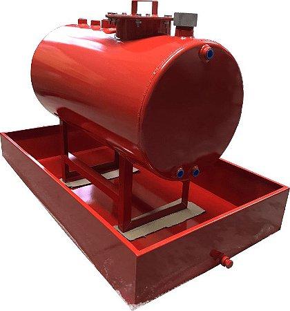 Tanque Aéreo para Combustível com Bacia de Contenção - Capacidade 1000 Litros