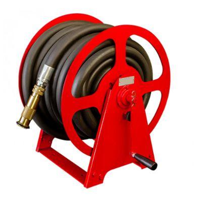 Carretel Manual para 30m Mangueira Ø1 Pol com Base Simples para Combate a Incêndio