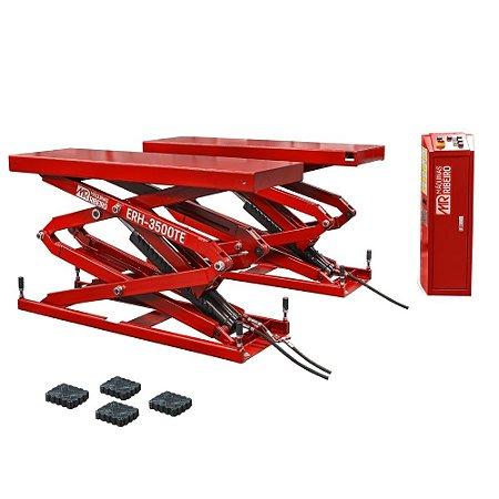 Elevador Automotivo Hidráulico Pantográfico 3500 Kg Monofásico 220V Vermelho