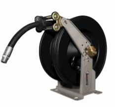 Carretel automatico base simples oléo diesel montado com 10m de mangueira 1 pol
