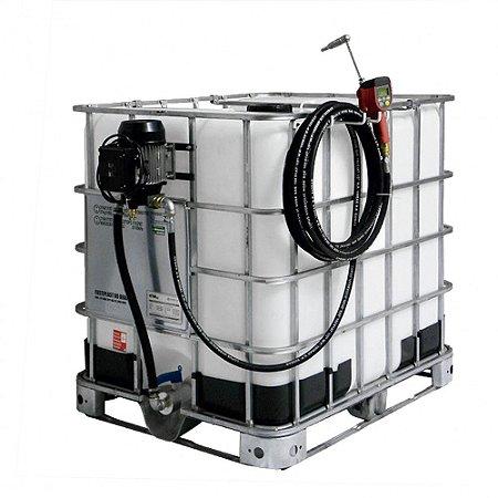 Unidade de Abastecimento Elétrica 220V com Medidor Programável Adaptável a IBC 1000L