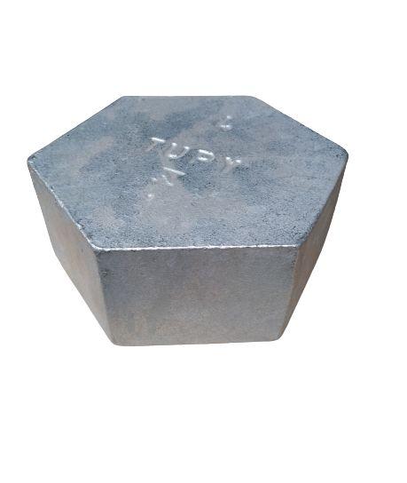 """Tampão Hexagonal Galvanizado 4"""" - Tupy"""