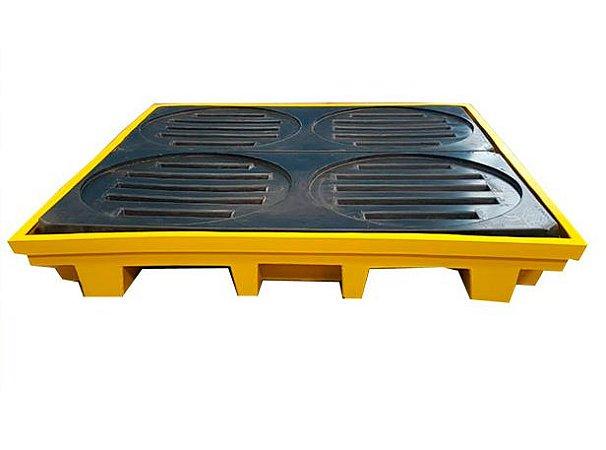 Pallet de Contenção para 4 Tambores - 220 Litros