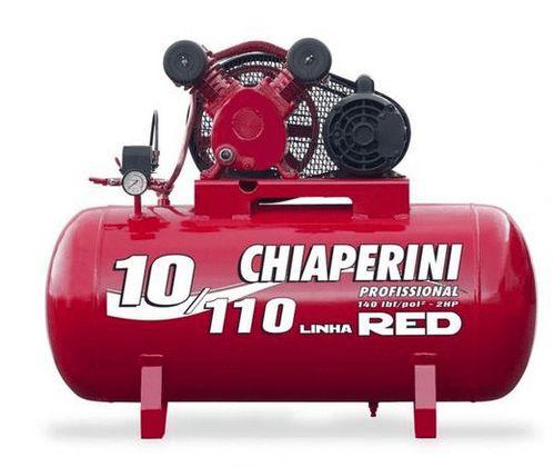 Compressor de ar média pressão 10 pés 110 litros 220/380V Trifasico - Chiaperini