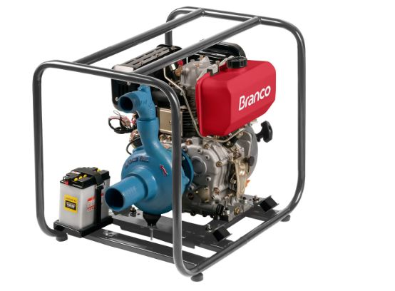 Motobomba a Diesel 10CV BD-709 com Partida Elétrica - BRANCO-90311946