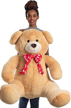 Urso de Pelúcia Laço Love 1,15cm GG - CORES DIVERSAS