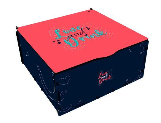 Kit Gin na caixa MDF com Especiarias Amor - Estampas Diversas
