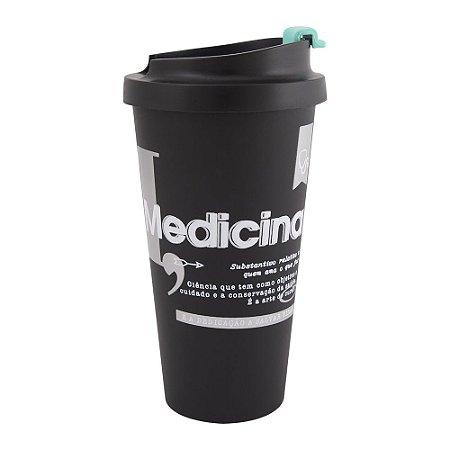 Copo térmico plástico  500ml- Medicina