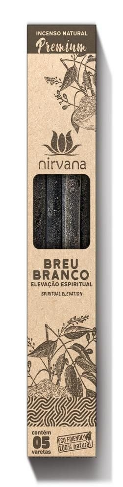 Incenso Natural Premium 5 varetas Nirvana - Breu Branco