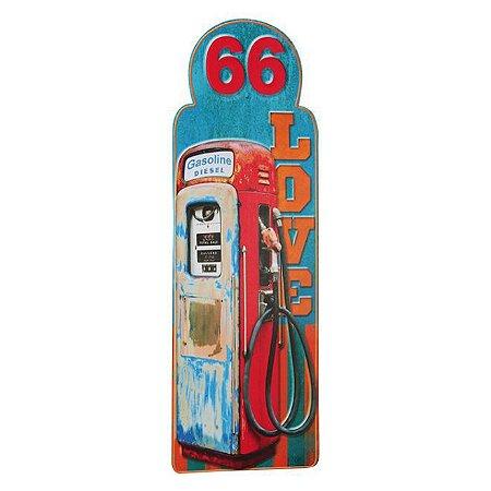 Placa bomba de gasolina - Vermelha