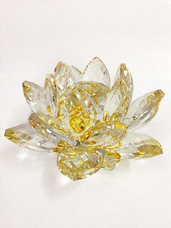 Cristal Flor de Lótus Grande - Cores Diversas