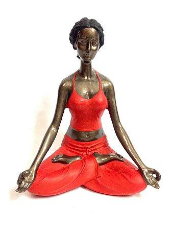 Estátua Decorativa Meditação - Yoga