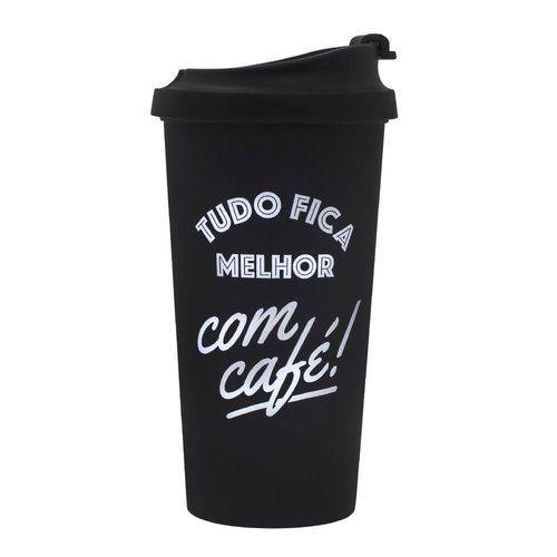 Copo Térmico Viagem - Tudo Fica Melhor Com Café