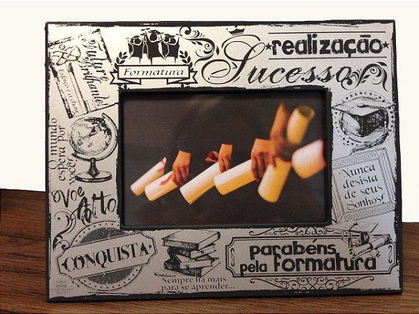 Porta Retrato Madeira - Parabéns Pela Formatura 10x15 cm