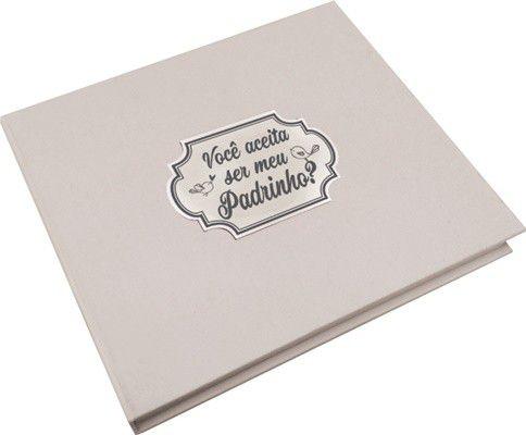 Caixa C/ Album - Você Aceita Ser Meu Padrinho?