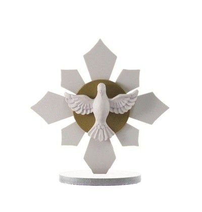 Enfeite Espírito Santo - 12x12 cm