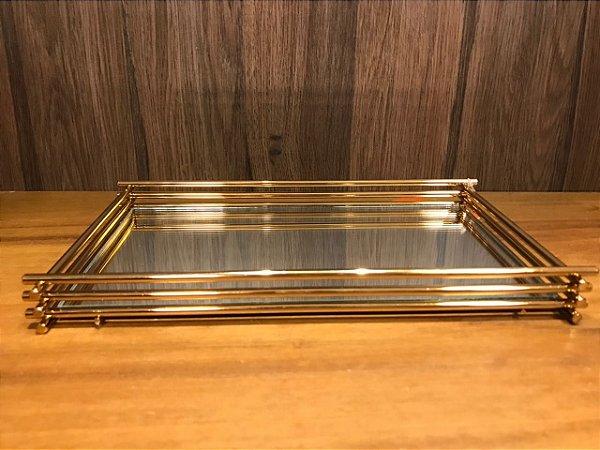 Bandeja Wire 10x20cm Golden