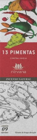Incenso Natural 9 varetas Nirvana - 13 Pimentas