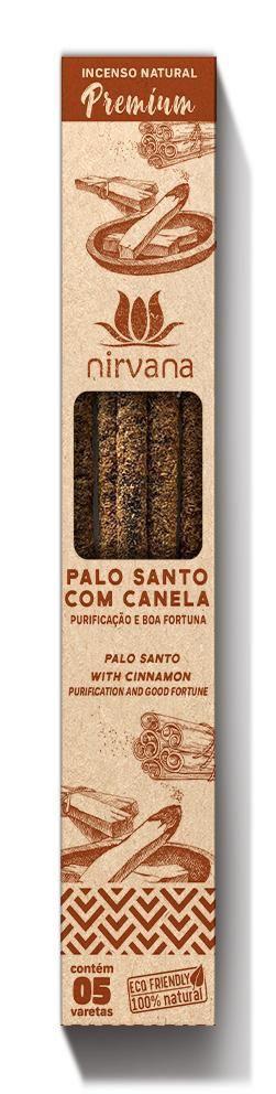 Incenso Natural Premium 5 varetas Nirvana - Palo Santo com Canela
