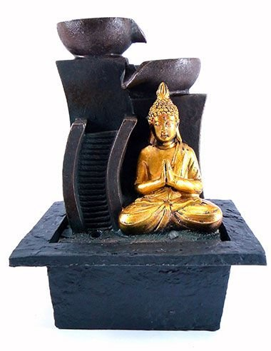 Fonte Buda Tibetano Dourado 24x17