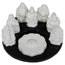 Incensário 7 deuses preto e branco