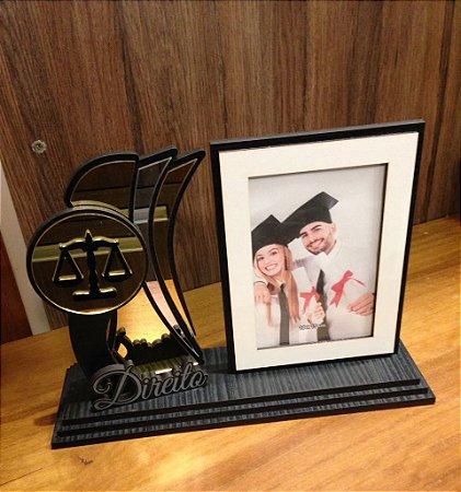 Porta Retrato com Troféu-  Direito