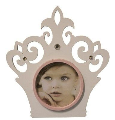 Porta Retrato Coroa 19,5x18- Branco