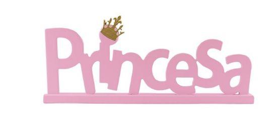 Palavra Princesa Madeira- Rosa