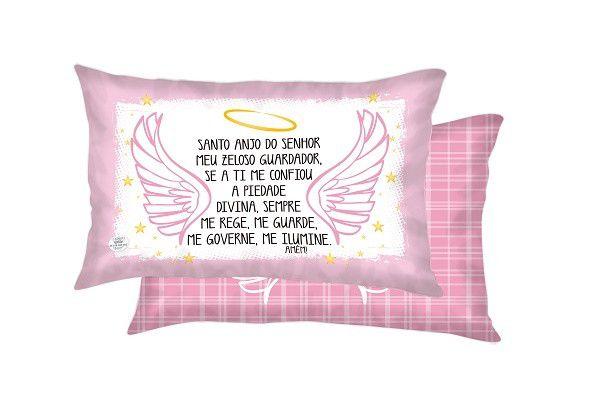Almofada Santo Anjo 22x37- Rosa