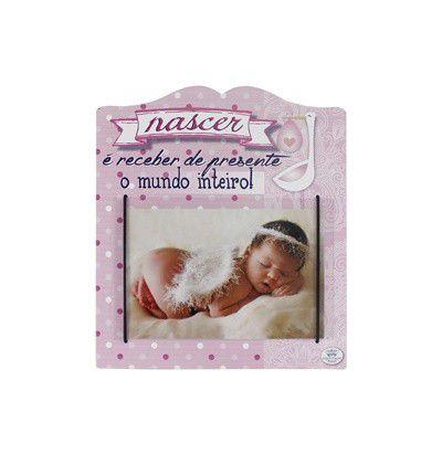 Porta-retrato Nascer 10x15cm - Rosa