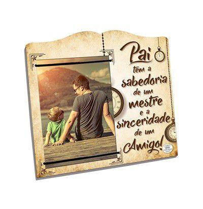 Porta-Retrato elástico 10x15- Pai tem sabedoria...