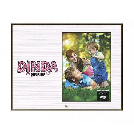 Porta Retrato MFD/Tecido 10x15- Dinda querida
