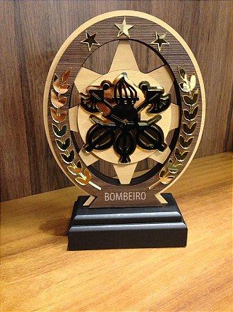 Troféu Madeira MDF Cursos -  Bombeiro