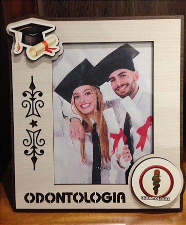 Porta Retrato MFD/Tecido - Odontologia 15x21cm