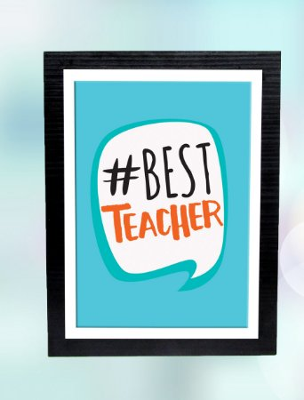 Quadro MDF/tecido 23x30- #Best Teacher