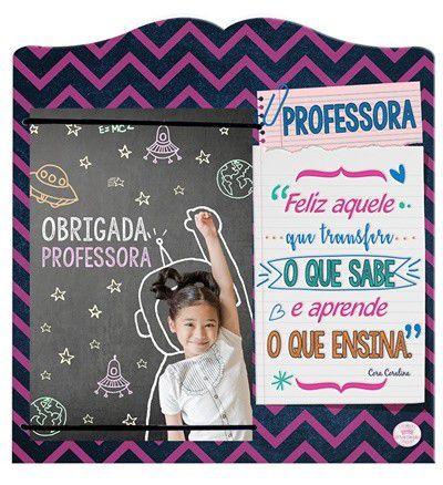 Porta Retrato com elástico MDF 10x15- Professora...